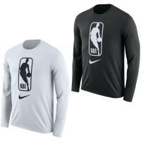 Nike NBA ロングスリーブ モノトーン Tシャツ 長袖 ホワイト 923600-100 バスケットボール ロンT プラクティスシャツ|pino-sports