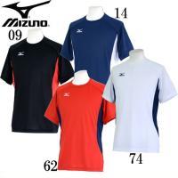 MIZUNO 半袖 Tシャツ メンズ  吸汗速乾性に優れたウエア  ■カラー 09:ブラック/レッド...