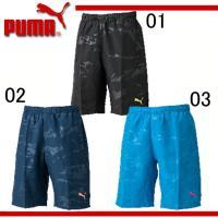 PUMA PFFTRG トレーニングショーツ  身頃ウーブンは、カモ柄をエンボス加工で 表現した吸汗...