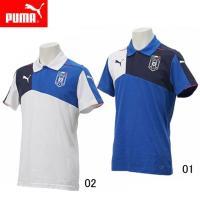 PUMA FIGCイタリア スタジアム ポロシャツ  イタリアのサッカーナショナルチームの オフィシ...