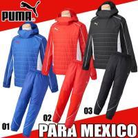 PUMA PARA MEXICO ナカワタピステトップ・パンツ上下SET  背中の一部分にストレッチ...