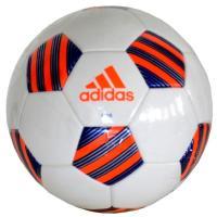 adidas サッカーボール 4号球 白×青  サーマルボンディング製法  ■手縫い ■人工皮革 ■...