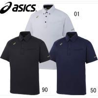 asics ボタンダウンシャツ  吸汗速乾性に優れた胸ポケット付きの無地モデル  ■サイズ:S・M・...