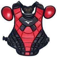 ミズノプロ プロテクター(革 ゴムソフト 硬式用) (46ネイビー×レッド)  MIZUNO ミズノ 野球 キャッチャー用防具 軟式用 (1DJPS110)
