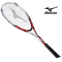 『フレームのみ』ソフトテニスラケット ジスト T1 (62レッド×ホワイト)  MIZUNO ミズノ ソフトテニス ラケット ジスト (63JTN52162)