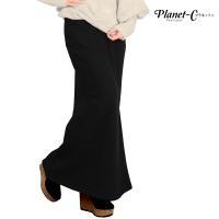 【 Planet-C 裏ベロアマキシスカート 】  軽い毛布をはいているようなとっても気持ちいい素材...