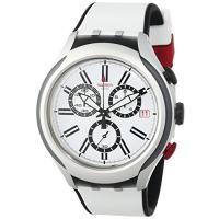 商品名:Swatch White Dial White Silicone Quartz Chrono...