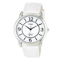 商品名:Timex T2N685 Womens White Croco Leather Strap ...