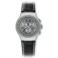 商品名:Swatch Mr Grey Chronograph Black Leather Mens ...
