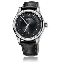 商品名:Oris Classic Date Black Dial Black Leather Men...