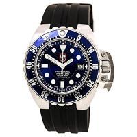 商品名:Men's Deep Dive Automatic Blue Dial Black Rubb...