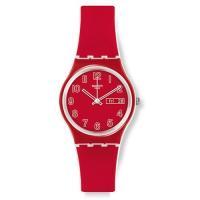 商品名:Swatch Red Dial Plastic Silicone Quartz Ladies...