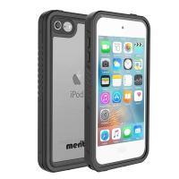 Merit iPod touch6 防水ケース 第6世代 第5世代対応 フルプロテクション カバー防水ケース 防塵 耐衝撃 (黒)