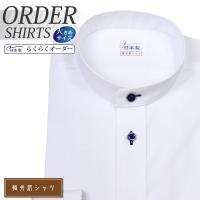 ワイシャツ 大きいサイズ メンズ長袖・半袖 スタンドカラー  軽井沢シャツ Y10KZZS36X