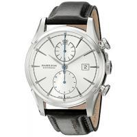■商品詳細  Silver chronograph dialBlack leather strapA...