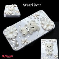 【送料無料】【iPhone4S ケース クマ】【iphone4 ケース 熊】【ラインストーン】Pea...