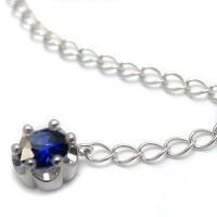 9月誕生石サファイヤを一粒使用した18金製のアジャスターです。お手持ちのネックレスやブレスレット、ア...