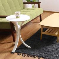 ソファーサイドやベッドサイドにも! テーブル 木製北欧サイドテーブル 全体:幅40×奥行40×高さ5...