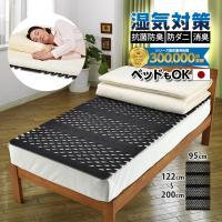 日本製 すのこ ベッド すのこ型除湿マット 防ダニ抗菌防臭 備長炭 帝人 エアジョブ ベッド用 シングル 結露 すのこマット 除湿シート 吸湿シート