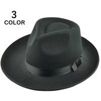 定番デザインの中折れ帽フリーサイズ※素材の特性上、多少の擦れや傷等が見られる場合もございますが、あら...