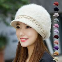 ふわふわ素材で旬の装いに。 まあるいシルエットが可愛いキャスケット帽。  【サイズについて】 頭周約...