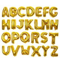 パーティなどの室内装飾にお勧め・アルファベットのアルミ風船です♪35〜40cmアルミ