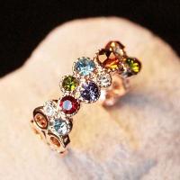 レディース 指輪 リング アクセサリー ラインストーン ビジュー キラキラ カラフル きれい 上品 おしゃれ 可愛い かわいい キュート ジュエリー
