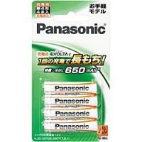 【在庫目安:あり】Panasonic  BK-4LLB/4B 充電式エボルタ 単4形 4本パック(お手軽モデル)