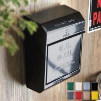 アメリカンデザインのレトロなメールボックスでお洒落な玄関を演出できます。便利な3桁のダイヤル式ロック...