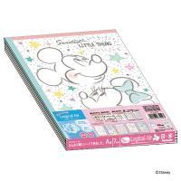 ロジカルエアーノート B5 ディズニー ミッキーアンドフレンズガーリーシリーズ A罫 30枚 5冊パック ナカバヤシ