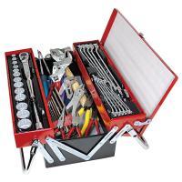 エビ印最強の工具セット。 全47点。「エビちゃんシリーズ」最多のツールが収納されています。薄型でリー...