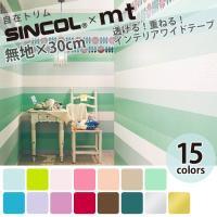 インテリアブランド『SINCOL』とマスキングテープ『mt』のコラボアイテム! 壁紙にはない透明感と...