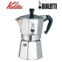 エスプレッソ発祥の地、イタリアのコーヒーメーカー・ビアレッティ社のエスプレッソメーカーです。直火で水...