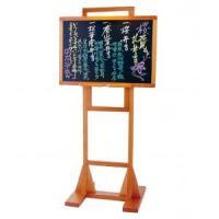 和風のお店やカフェなどにオススメの木製メニュースタンドです。板面の角度を調節してメニューブックレスト...
