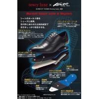 アシックス商事 ビジネスシューズ texcy luxe テクシーリュクス 2E相当 Uチップ TU 7003 ブラック 24.5cm