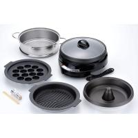 焼肉プレート、たこ焼きプレート、しゃぶ鍋プレート、スチーマーへの取り換えが可能。焼き物から鍋料理、た...