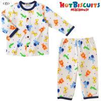 ビーンズくんとアニマルたちの可愛らしいプリントパジャマです☆ パイピンクが効いた白を基調としているの...