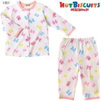 キャビットちゃんとドットリボンの可愛らしいプリントパジャマです☆  パイピンクが効いた白を基調として...