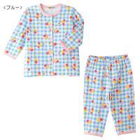 ブルーのチェックに小花が可愛らしい♪  キャビットちゃんの長袖プリントパジャマです☆  ピンクのパイ...