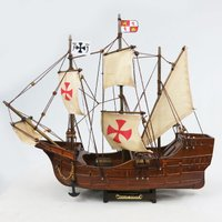 木製帆船、模型、サンタマリア号(SANTA MARIA) 完成品。 ・長さ35×幅7.5×高さ30c...