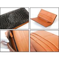 本ワニ革クロコダイル長財布/高級高品質(ヘッド・頭部)クロコダイル皮革使用