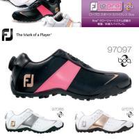 フットジョイ FootJoy ゴルフシューズ レディース スパイクレス ボア ダイヤル式 軽量 ロー...