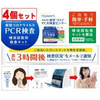 PCR検査キット 4個セット 即納  唾液採取の簡単検査キット コロナウイルス判定 東亜産業 割引価格 格安 送料無料