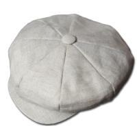 ニューヨークハット  帽子  キャスケット New York Hat 6200 LINEN BIG APPLE Oatmeal