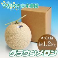 (訳アリ・簡易包装)クラウンメロン キズA級品 約1.2Kg前後