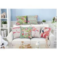 フラミンゴデザインがオシャレで可愛いクッションカバー。 置いておくだけでもとてもおしゃれな雰囲気に!...