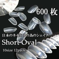 形・透明感・長さがとてもいいショートオーバルのクリアのネイルチップです。 ショートオーバルは自作のネ...