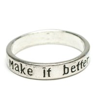 Make it better メッセージ リング 良くなるよ 19号 シルバーカラー  レディース メンズ 指輪 アクセサリー f-er911