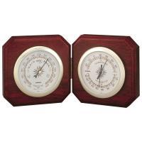 シンプルでシックな置き型デザイン。計器は2つですが右側は温度計と湿度計が同居していますので、気圧、温...