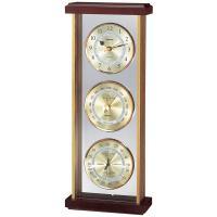見た目計器は3つですが、気圧計・温度計・湿度計・時計の4つの機能を搭載、1台4約のスグレモノです。縦...